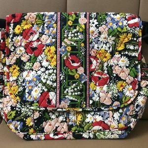NWOT Vera Bradley Messenger Bag Poppy Fields